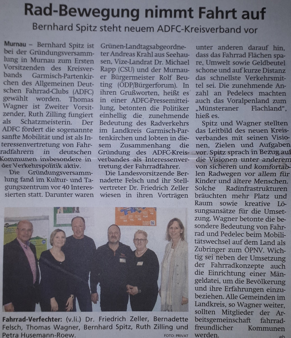 ADFC Garmisch-Partenkirchen: Presseberichte